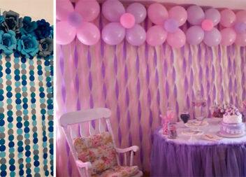 Створюємо фотозону для дитячої вечірки із повітряних кульок, паперу та стрічок