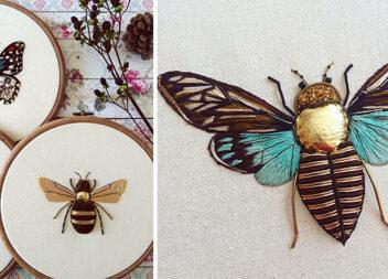 Коли вишивка оживає... Створюємо красивих метеликів та жуків