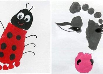 Дитяча творчість: як малювати із відбитками дитячих ніжок та рученят