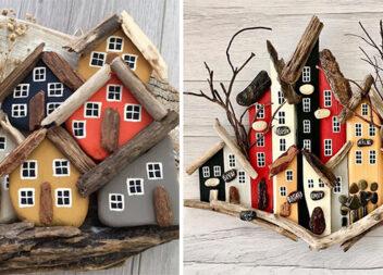 Фантастичні роботи із деревини та каменю!