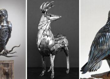 Креативні скульптури із столових приборів. 30 фото