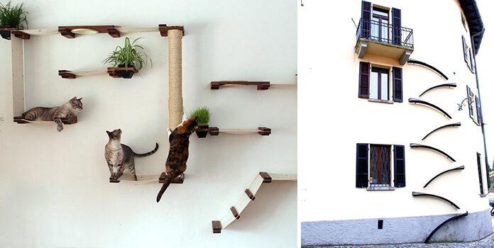 Ігрові площадки та аксесуари для щасливих котиків та кішок. 65 креативний ідей
