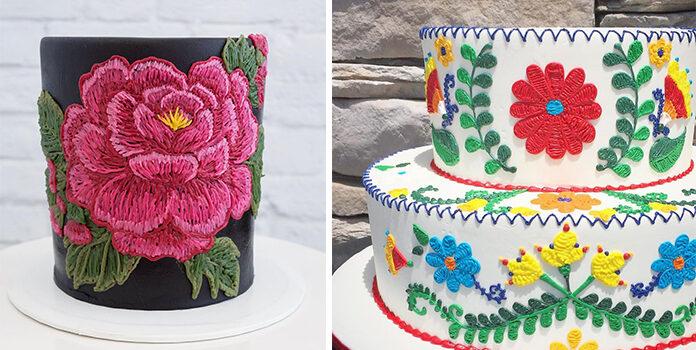 Створюємо вишиті торти. Чудові варіанти для подарунку рукодільниці і не тільки