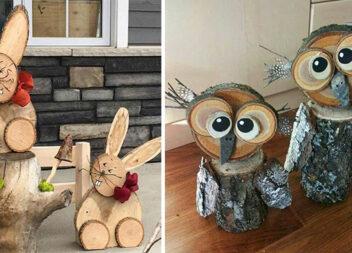 Майструємо із дерева: чудові фігури із дерев'яних зрізів