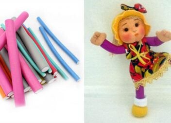 Як створити чудернацьку ляльку із бігуді. Майстер-клас