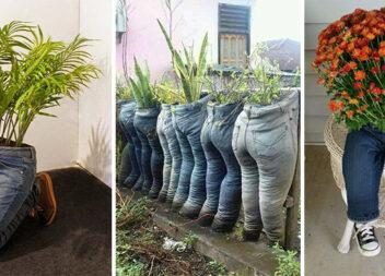 Садові фігури із старих джинсів: 11 цікавих ідей
