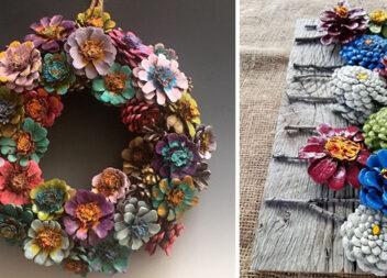 Створюємо квіткові композиції із шишок