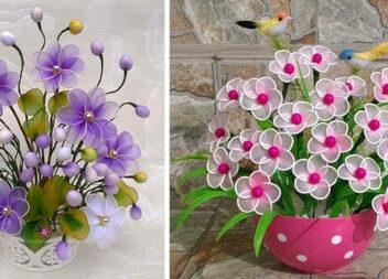 Квіти з капрону та дроту: ідеї для натхнення