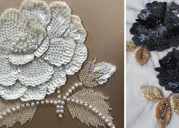 Поєднання технік та матеріалів у вишивці: нитки, перлинки, бісер, стрічки та блискітки (паєтки)