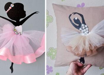 Декор із балеринками, який можна виготовити самотужки