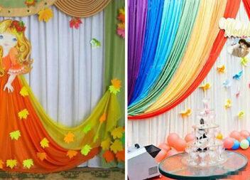 Декоруємо органзою фотозони та приміщення до святкувань