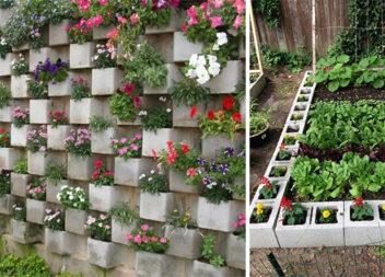 Створюємо акуратні грядки та красиві квітники із допомогою піноблоків