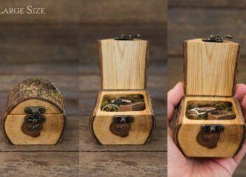 Неймовірні дерев'яні скриньки для обручок