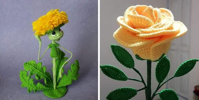 Неймовірний декор: в'язані квіти