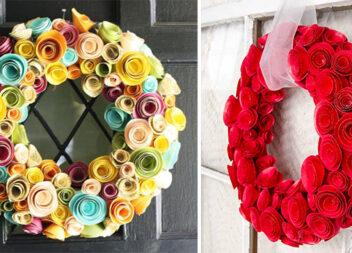 Створюємо вінок із паперових трояндочок. Майстер-клас