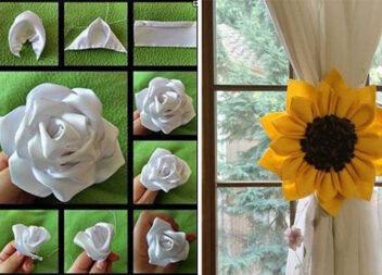 Як зробити квіточку із стрічки. Багато ідей та фото кроків