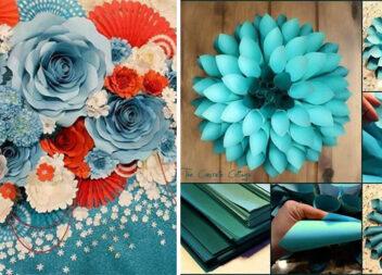 Квітковий декор із паперу. Ідеї та фото кроки