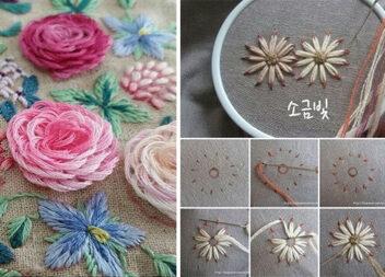 Різні способи вишити квіточку. Покрокові фото + красиві ідеї