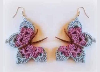 Сережки-метелики: як зв'язати прикраси гачком. Майстер-клас