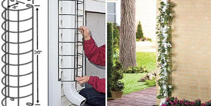 Як замаскувати водостік у будинку
