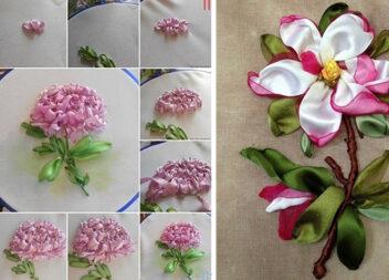 Вишивка стрічками: як створювати квіткові мотиви. Покрокові фото та приклади робіт