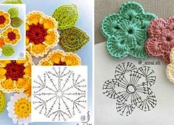 65 схем створення квіточки гачком
