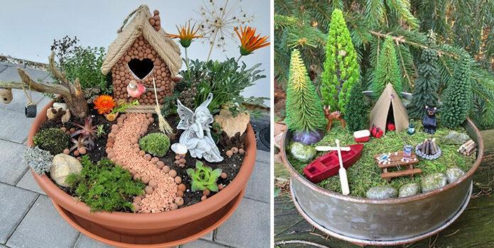 Створюємо оригінальні композиції у горщиках для рослин. 25 фото