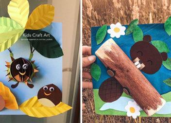 10 крутих листівок на осінню тематику. Покрокові фото