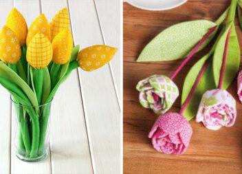 Виготовляємо квіти із тканини самотужки