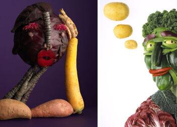 Неперевершені картини із овочів, фруктів та інших продуктів
