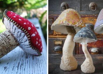 Більше 30 ідей грибочків із тканини