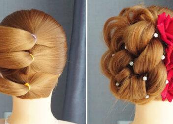 Проста, але дуже гарна зачіска з трьох хвостиків