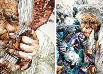Мистецтво малювання папером...