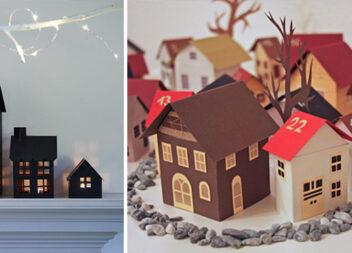 Створюємо чарівні будиночки із паперу. Ідеї та шаблони