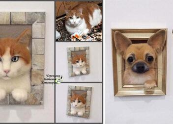 Чудові портрети домашніх улюбленців методом сухого скульптурного валяння