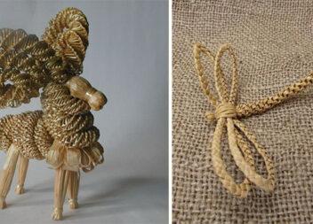 Плетемо із соломи: чудові вироби для декору та подарунку