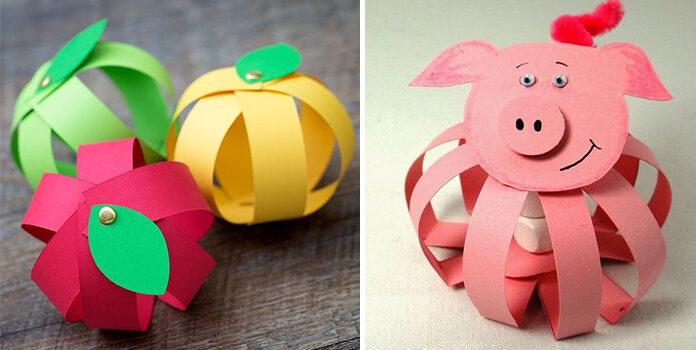 Паперові смужки: ідеї для дитячої творчості
