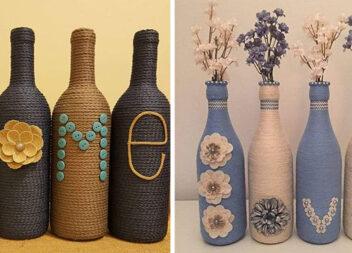 Декоруємо пляшки для домашнього декору