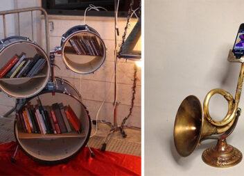 Як перетворити музичний інструмент на предмет інтер'єру. 20 ідей для натхнення