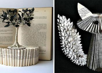Декоруємо оселю старими книгами