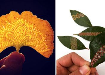 Оригінальні приклади творчості на листочках