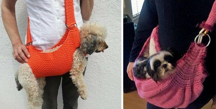 10 варіантів в'язаної переноски для собак