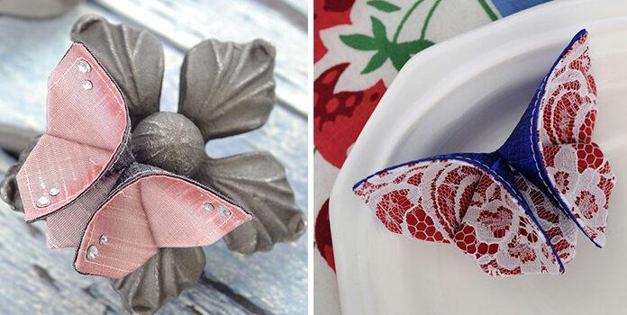 Робимо метелика з тканини в техніці оригамі. Ідеї + покроковий майстер клас + відео