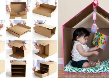 Що можна зробити із картонної коробки. Ідеї, поради та майстер класи своїми руками
