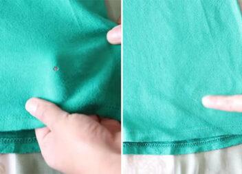 Як зашити дірку на одязі, не використовуючи голку й нитку: майстер клас