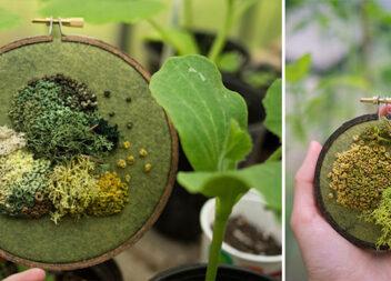 Вишитий мох, який виглядає наче справжній