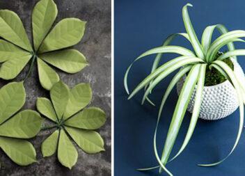 30 варіантів створення листя із паперу