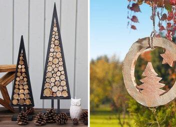 Ідеї зимового декору із деревини