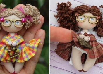 Неймовірні мініатюрні лялечки! Викрійки