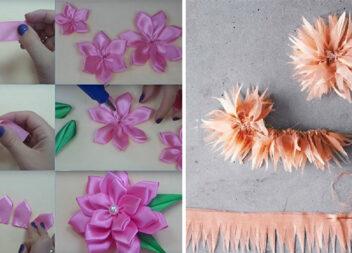 Таких квітів із атласних стрічок ви ще не робили! 4 варіанти створення квітки